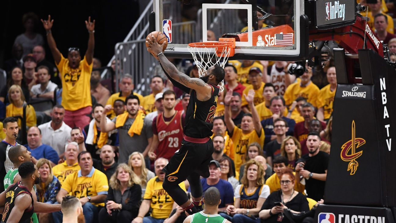 76b517f56ae4 Cleveland Cavaliers match LeBron James  tempo to claim Game 3 over Boston  Celtics NBA