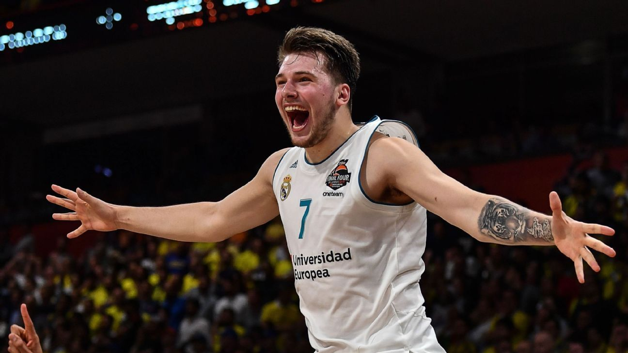 low priced 4daa6 6aaef NBA prospect Luka Doncic helps Real Madrid win Euroleague title