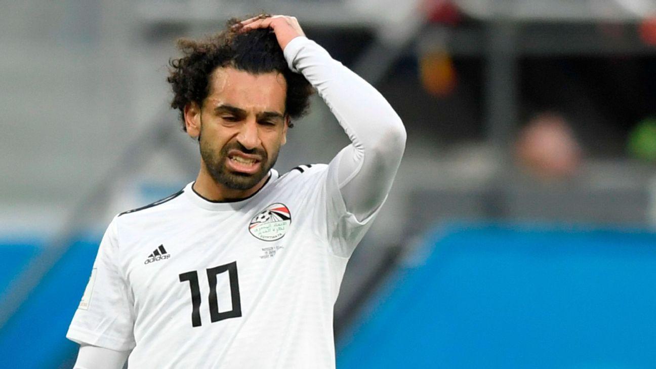 Mohamed Salah makes scoring return but cannot stop rampant Russia