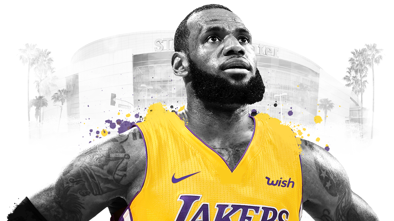 huge discount d3443 06a4b LeBron James joining Los Angeles Lakers on 4-year, $153.3 ...