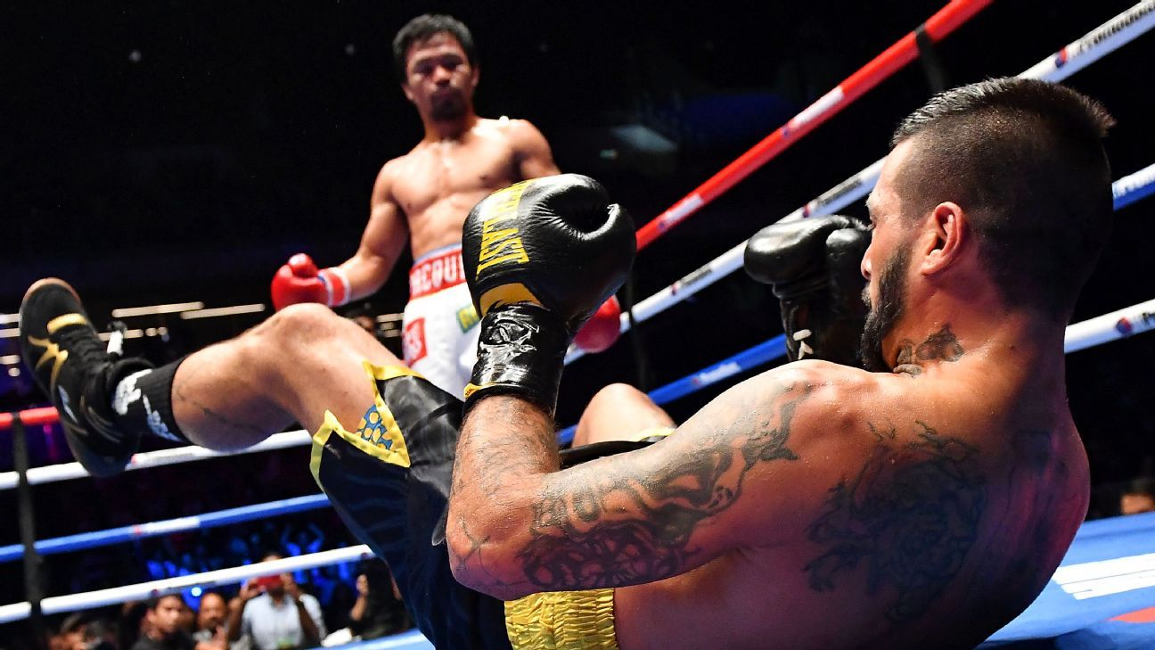 Manny Pacquiao says his goal is to knock out Adrien Broner