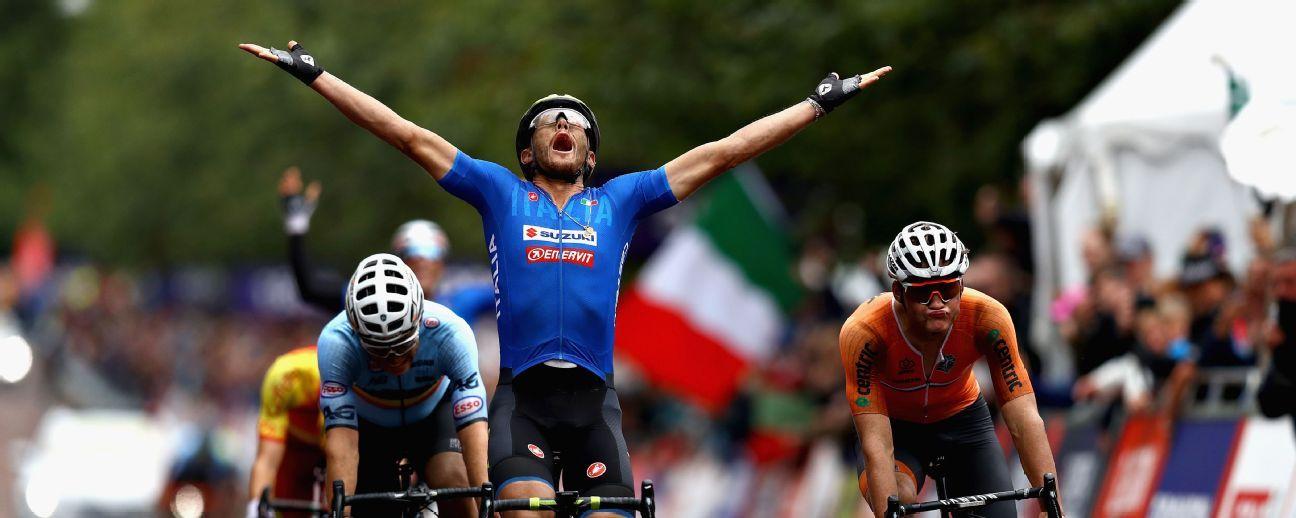 9ab6d3052 European Championships - Matteo Trentin wins road race title