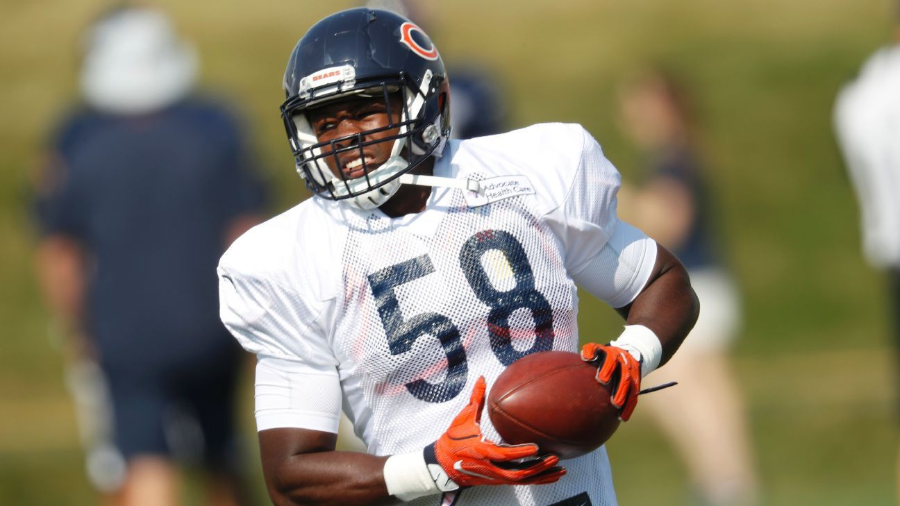 Bears LB Roquan Smith out for season with torn pec