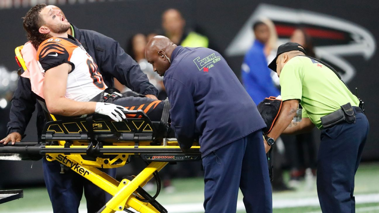 Bengals Eifert leg suffers TE injury Tyler Cincinnati gruesome
