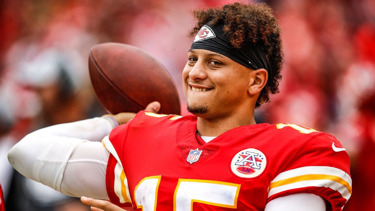Chiefs GM Brett Veach told a Kansas City radio station that he called Patrick Mahomes' agent after seeing his star QB playing basketball in a video that went viral and was able