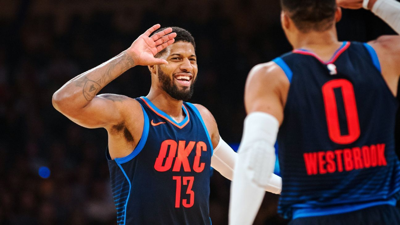 671c689e362 The inside story of how Russell Westbrook convinced Paul George to stay in  Oklahoma City