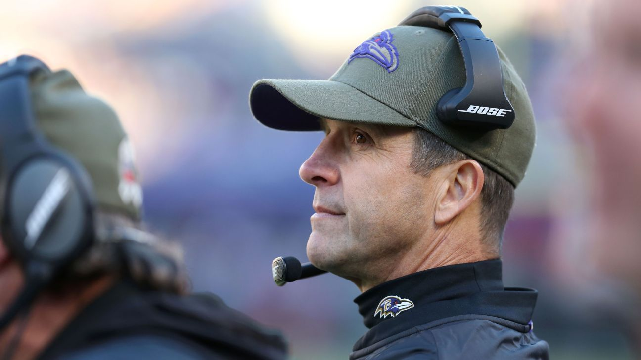 Ravens' Harbaugh to miss combine after surgery