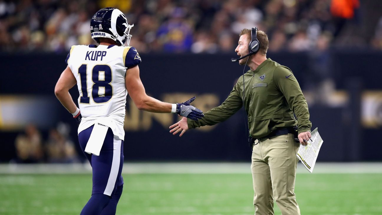 Kupp wouldn't commit to a return date, but coach Sean McVay said the goal was for him to be back for Week 1.