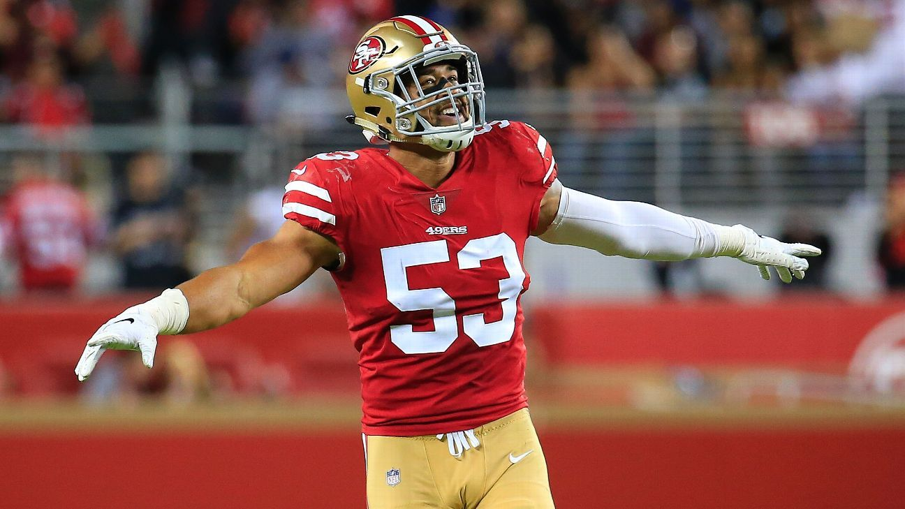 Mark Nzeocha isn't a household name, but his 183,000 Pro Bowl votes lead special-teamers. To that, the Niners LB says