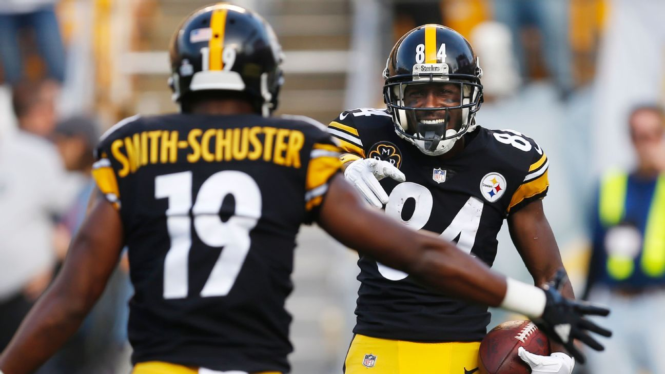 5dfa668f1 Antonio Brown s resentment grew with each JuJu Smith-Schuster reception -  Pittsburgh Steelers Blog- ESPN