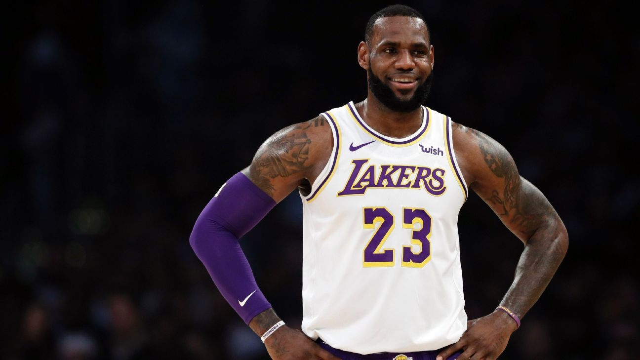 LeBron James of Los Angeles Lakers to have groin injury re-evaluated