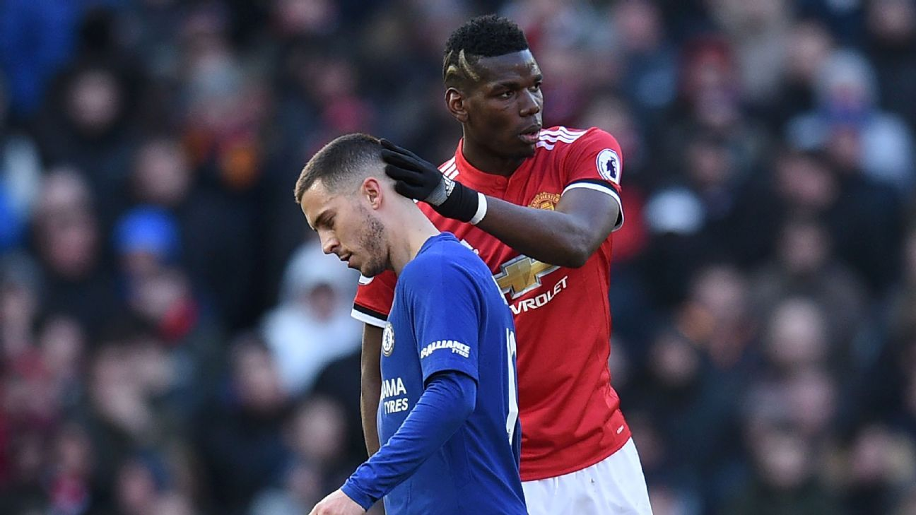Image result for Pogba and Hazard