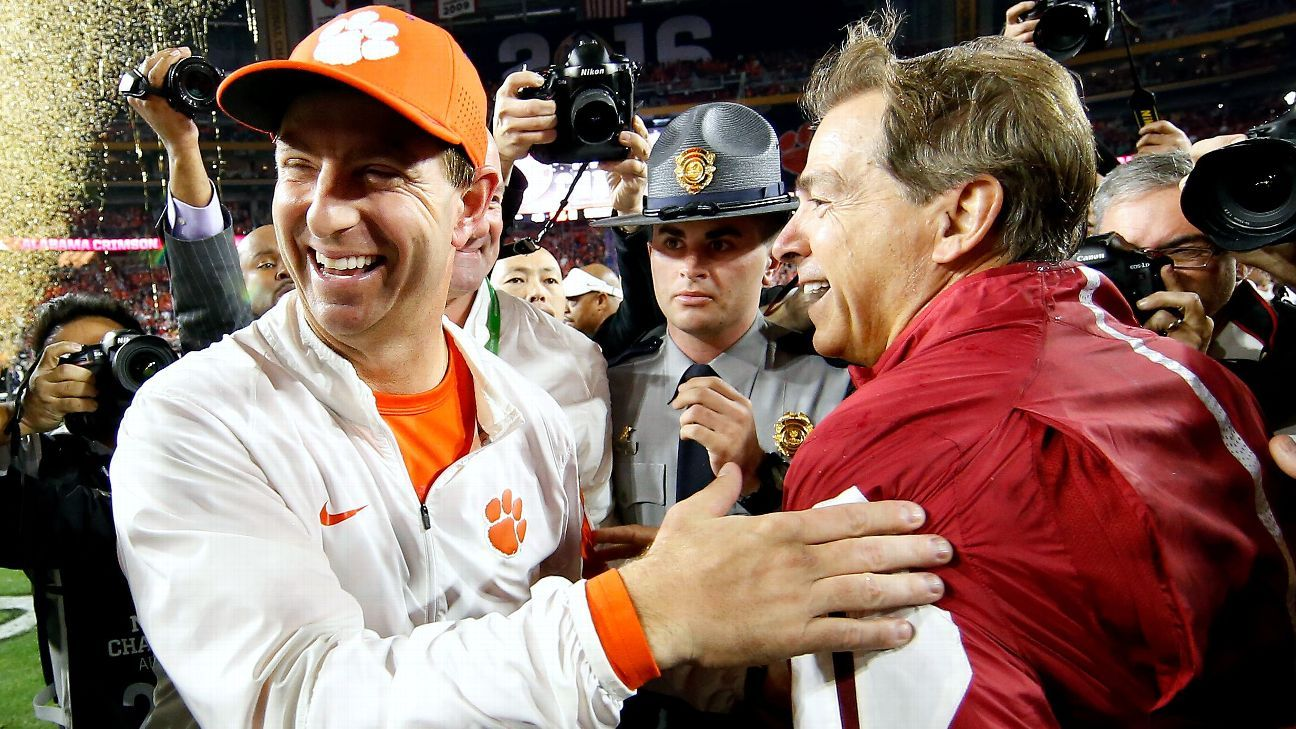 The Golden Nugget in Las Vegas has Clemson listed as a 2-point favorite over Alabama in what would be the third meeting in a national title game in the last four years between the Tigers and Crimson Tide.