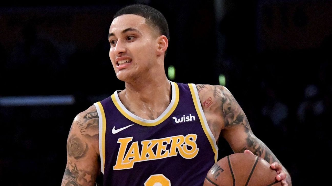 4863504cec92 Kyle Kuzma of Los Angeles Lakers rebounds with career-best 41 against  Pistons