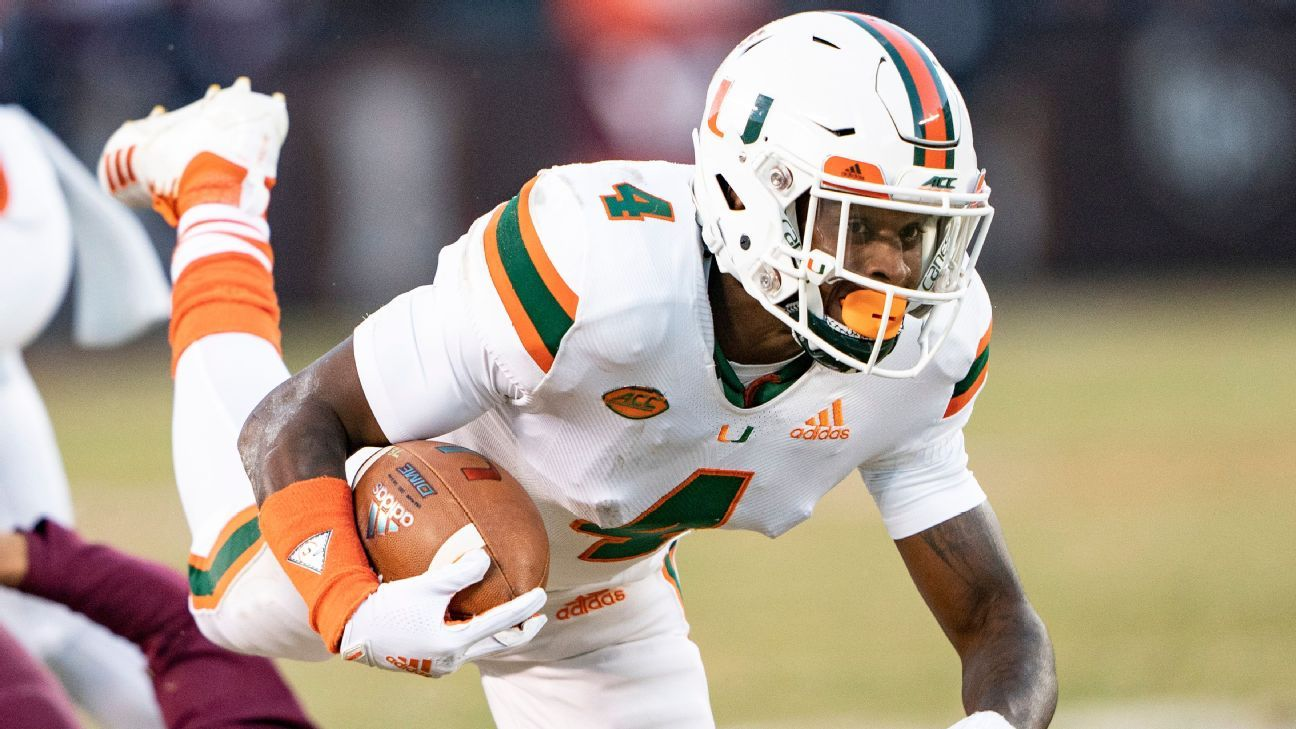 Wide receiver Jeff Thomas announced on Tuesday night he's going to remain with the Miami Hurricanes after initially stating his intentions to transfer to Illinois.