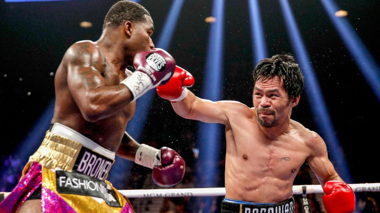 Manny Pacquiao easily tops Adrien Broner, retains secondary belt