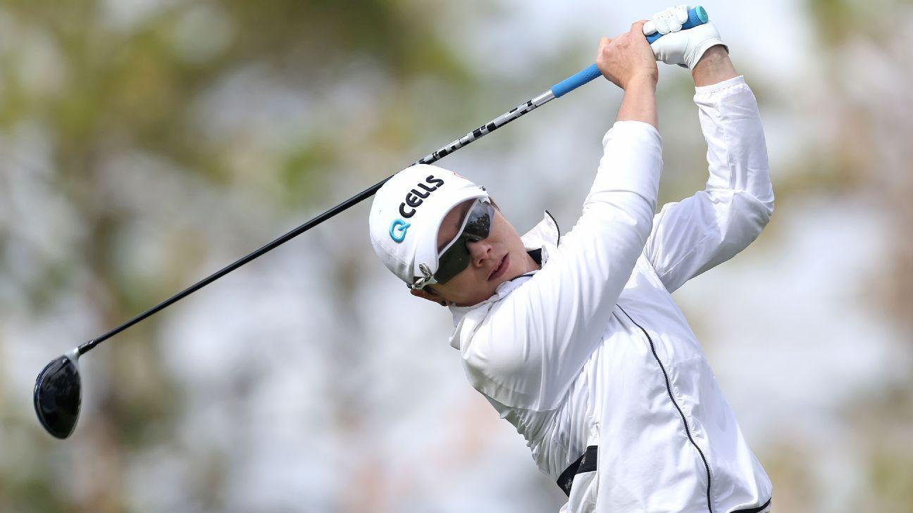Ji sets 36-hole tourney mark, up 2 shots in Lotte