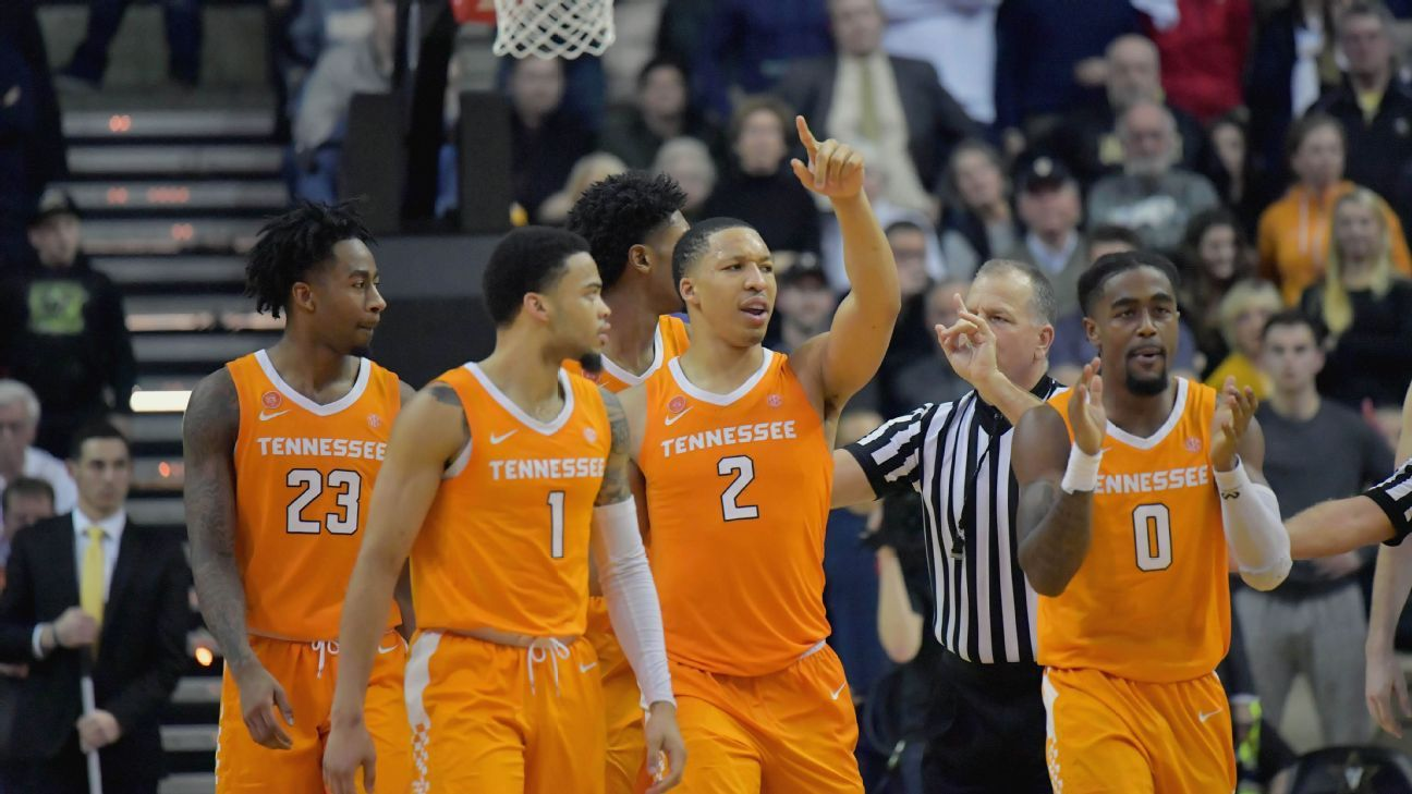 Uk Basketball: Tennessee Stays Atop The AP Men's Poll For Second Straight