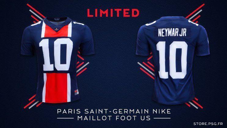 1e9aaa0574 Super Bowl  PSG lança camisa com  temática NFL  de Neymar por R  470
