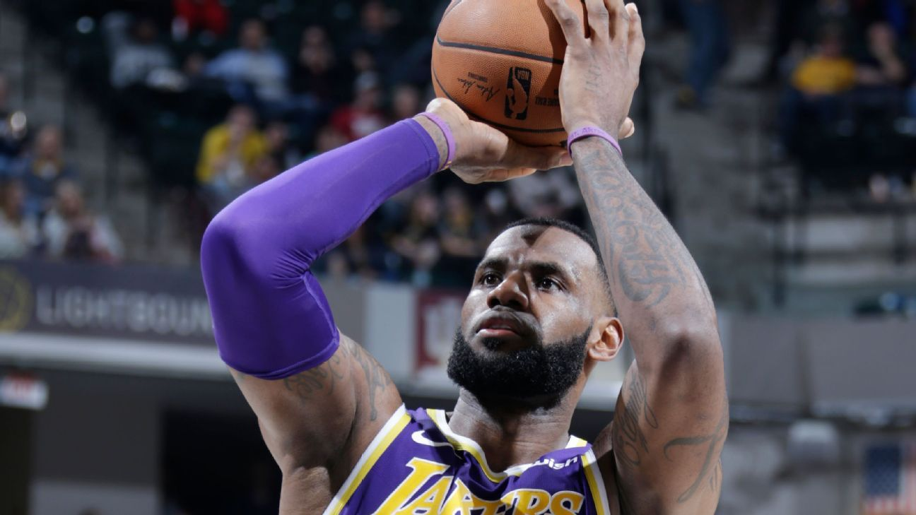 Image result for Lakers' 42-point loss to Pacers worst of LeBron James' career