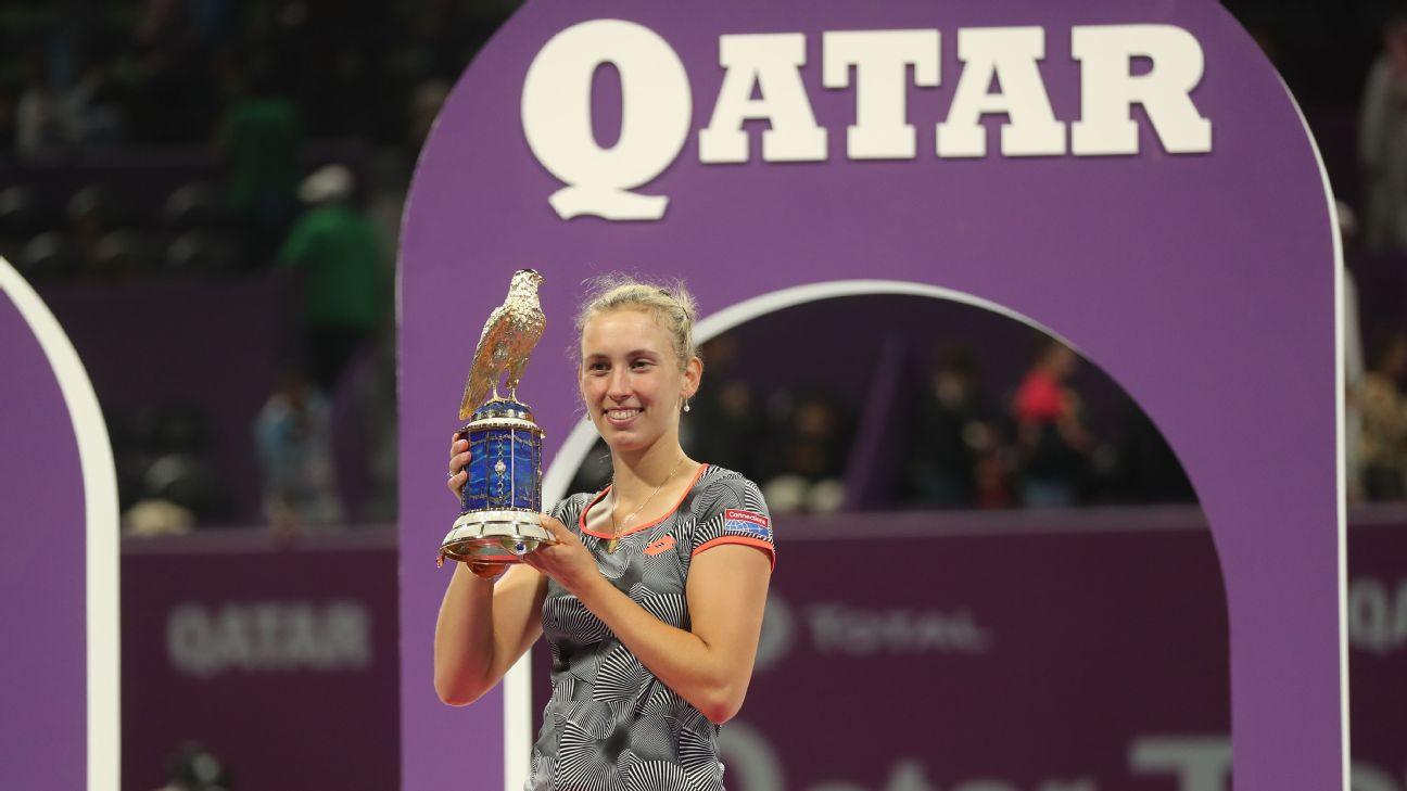 Elise Mertens shocks Simona Halep to claim Qatar Open title