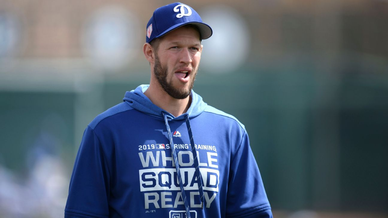 dc9d4c28acd Dodgers  Clayton Kershaw  didn t feel great  after playing catch ...