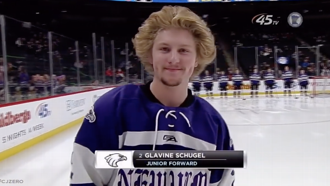 The best hair at the Minnesota boys' high school hockey tournament