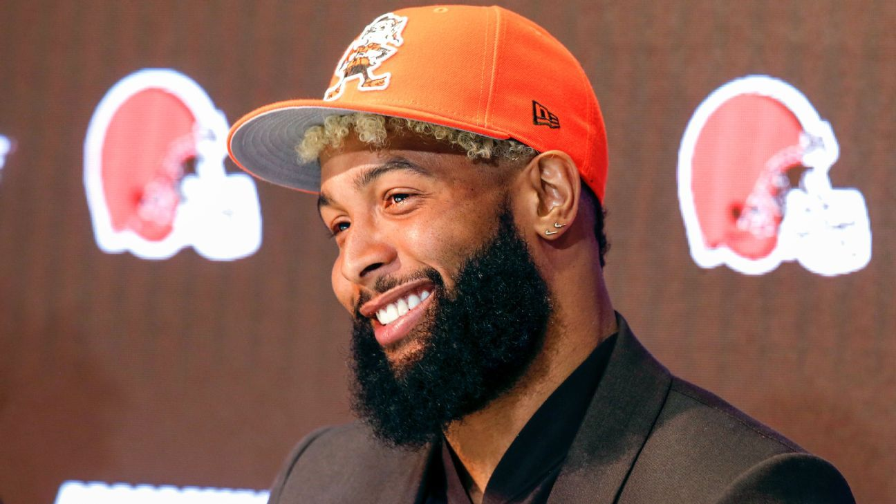 Odell Beckham Jr. participated in his first on-field team practice with the Browns on Tuesday as OTAs began.