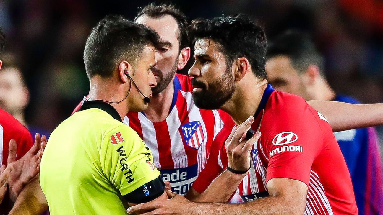 Reports Atletico's Costa refuses to train over fine following outburst - ESPN