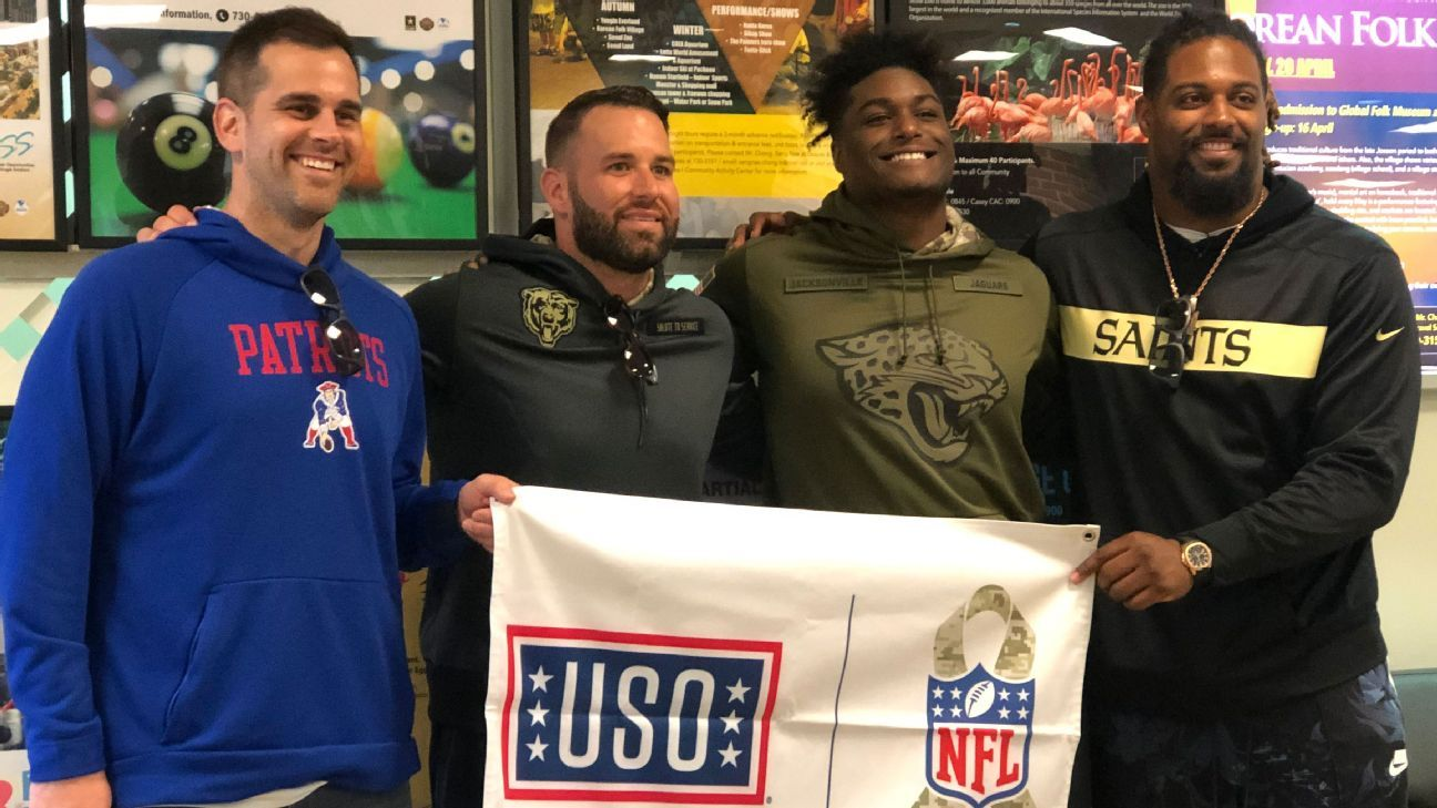New England's kicker came home from the NFL-USO Tour with newfound respect for those who serve in the military.