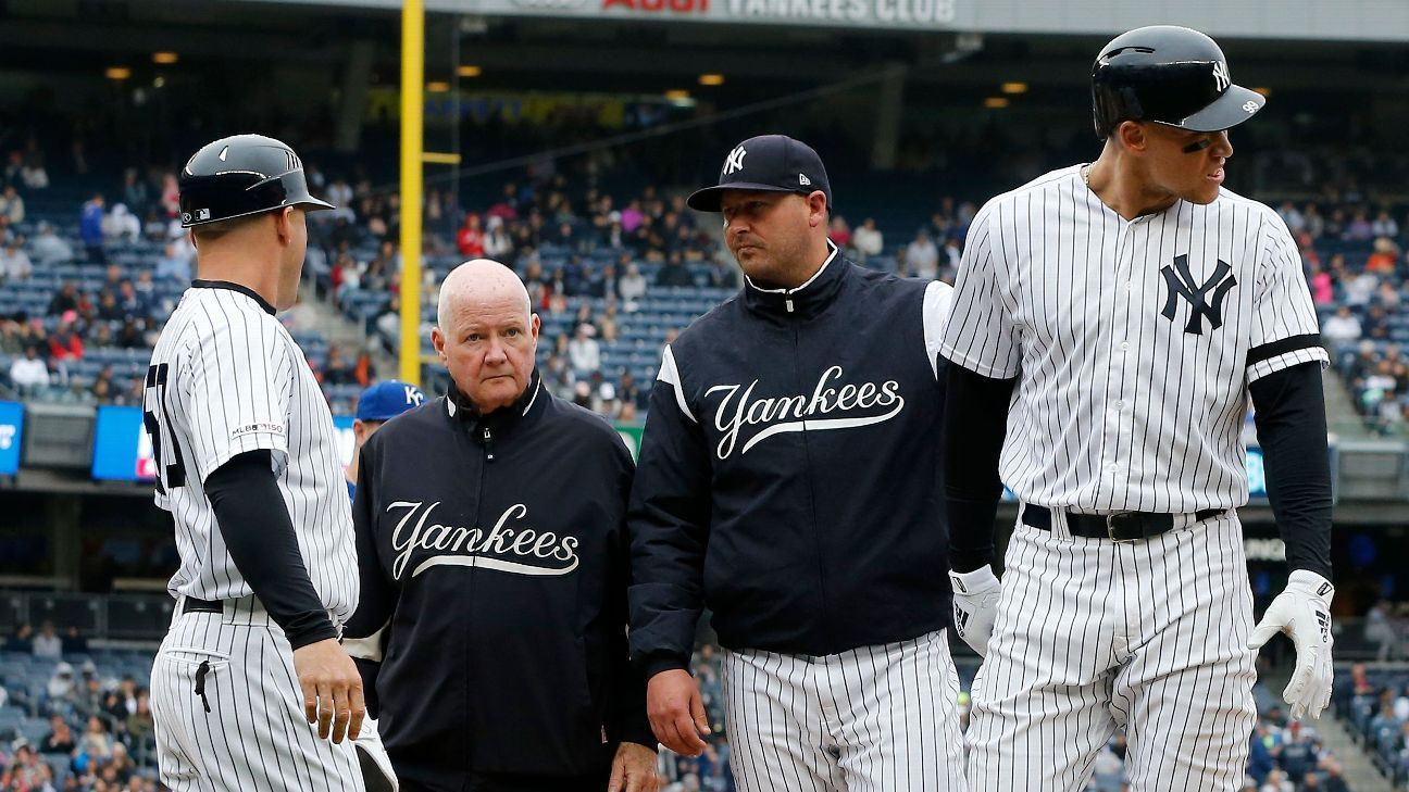 Yanks await verdict on Judge after oblique injury