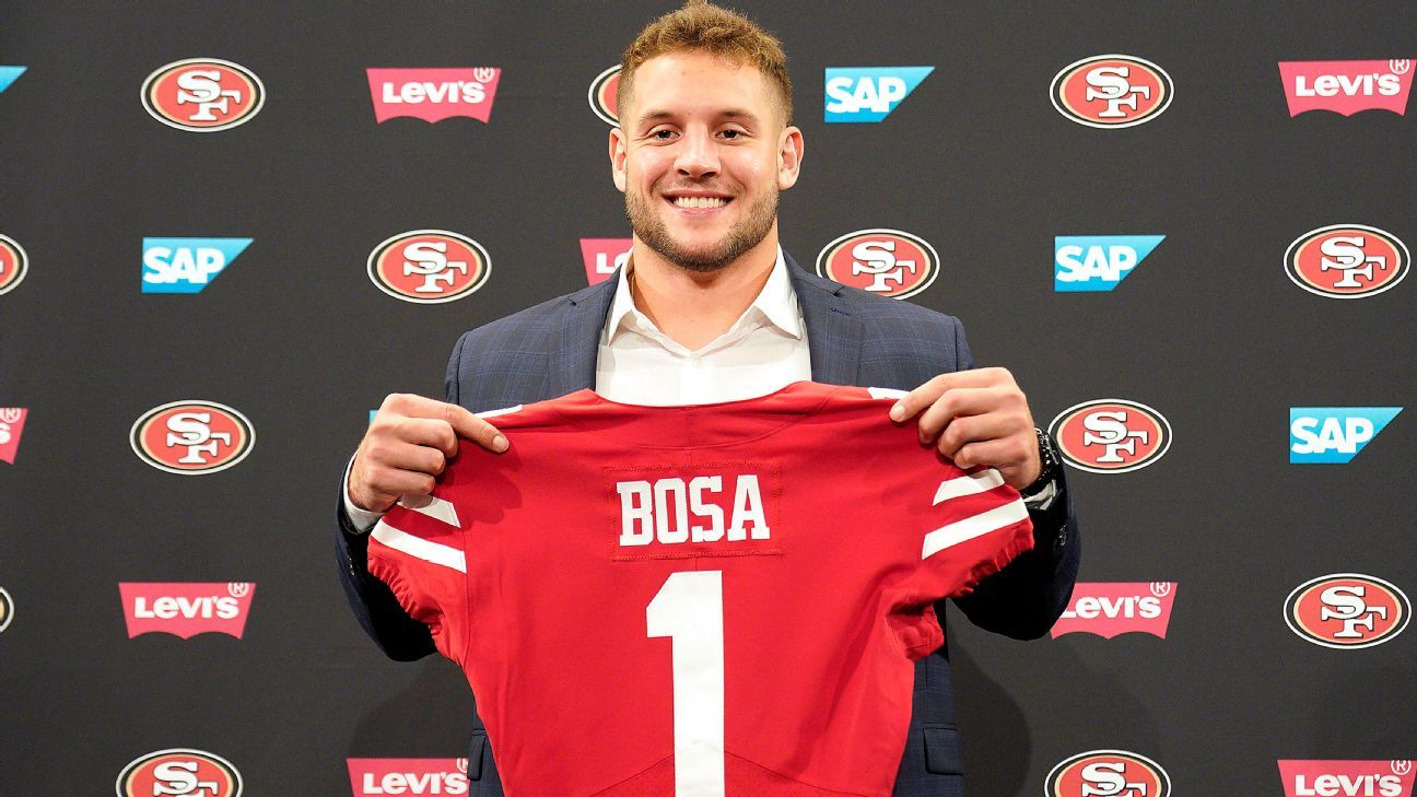 Niners defensive back Richard Sherman says people won't care about new defensive end Nick Bosa's past controversial comments if he can play.