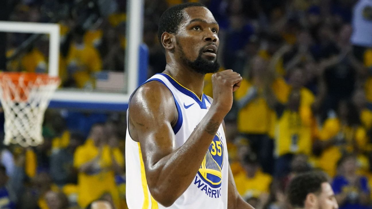 Kerr confirms KD out remainder of Rockets series – ESPN