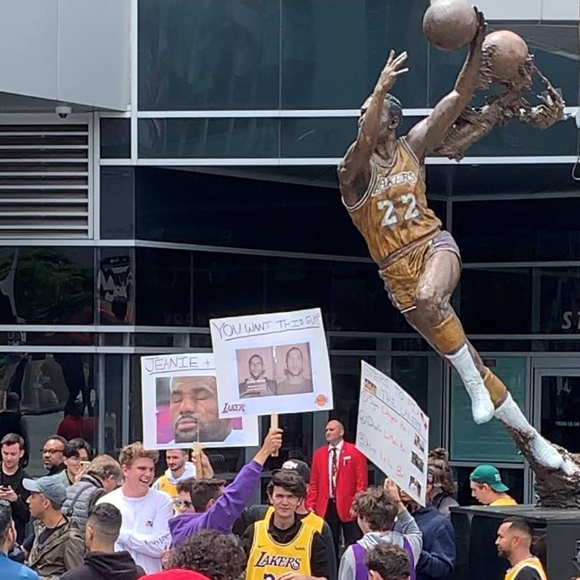 Lakers protester: 'Nepotism shouldn't be involved'