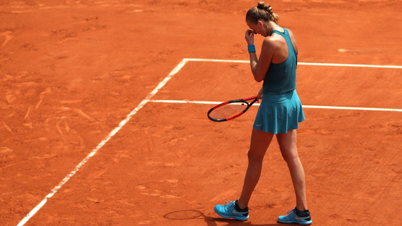 Kvitova pulls out of French Open with injury