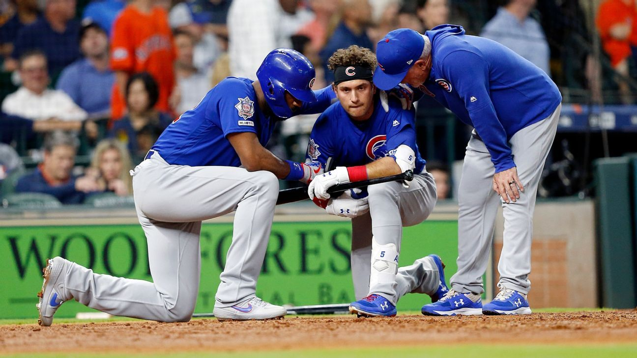 3d7423b1 Cubs' Almora wants change after foul ball hits girl