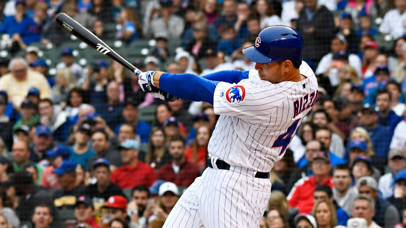 Cubs' Rizzo out with back tightness; Holland to IL