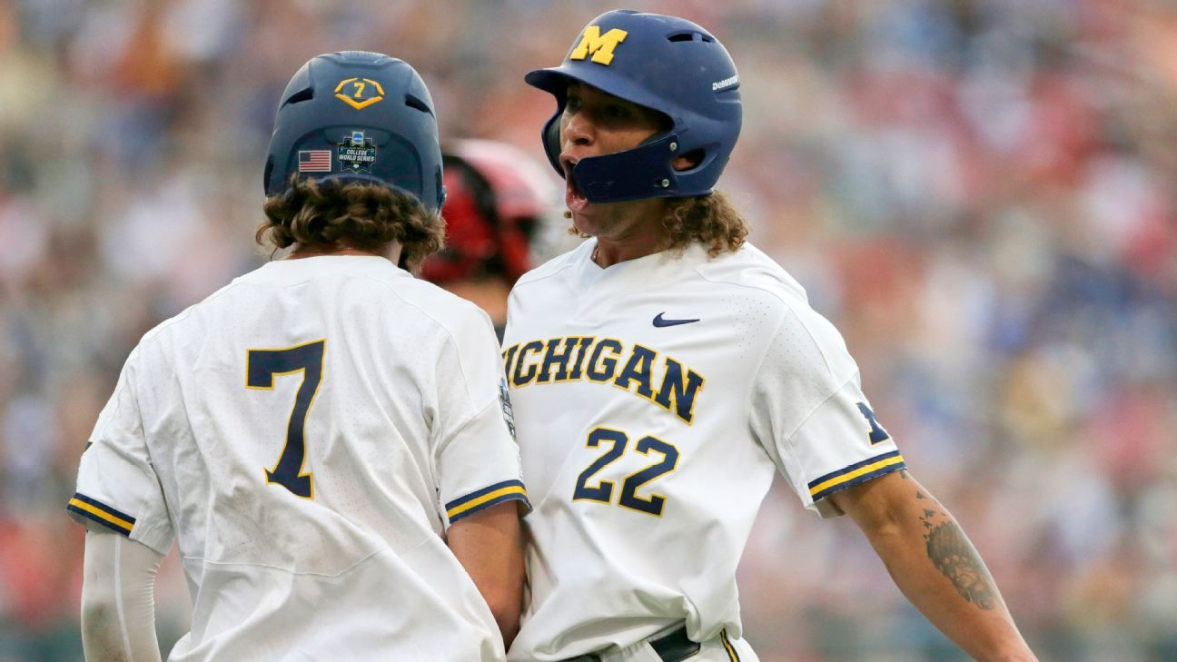 Michigan Earns Win To Open Its First Cws Since 84