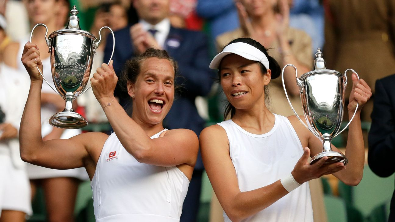 Strycova wins doubles title after singles semi loss