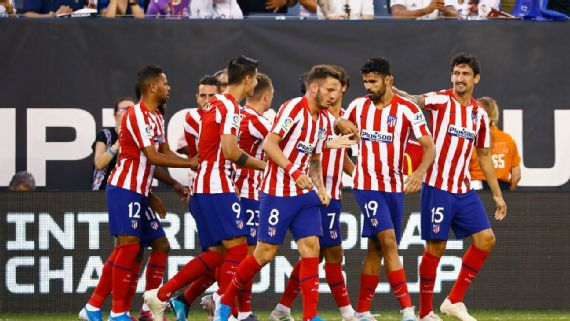 Diego Costa scores four and is sent off as Atlético thrash Real Madrid in friendly