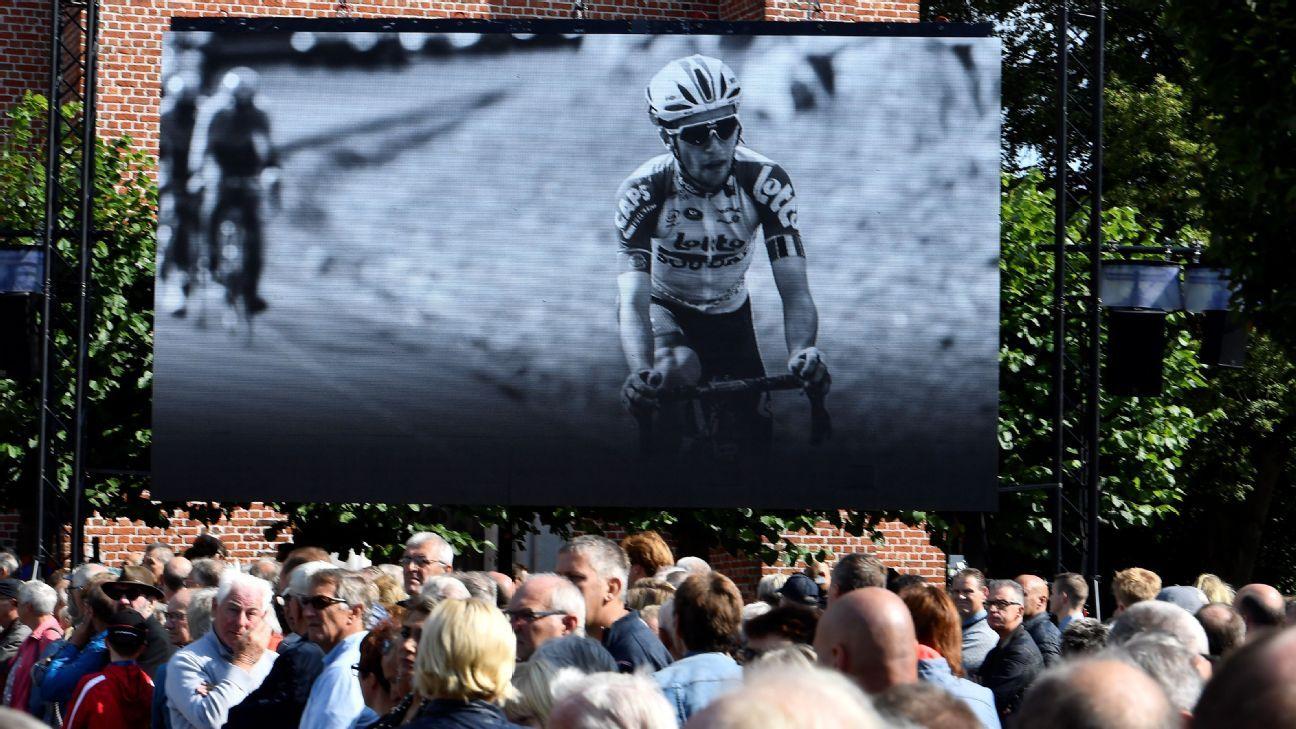 Cyclist Lambrecht's funeral held in hometown