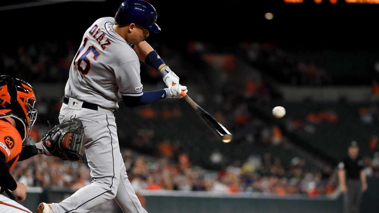 Astros' Diaz put on IL; hospitalized overnight