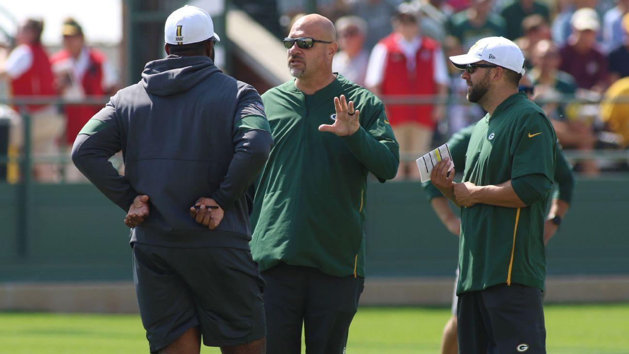Packers' Mike Pettine brings his 'Cheesecake Factory menu' to sideline