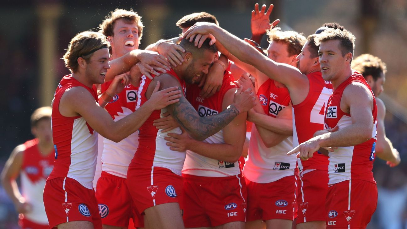 Franklin kicks four on top day for Swans