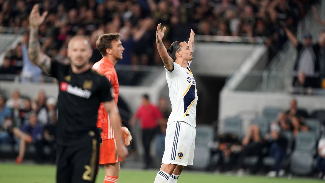 Zlatan nets brace but Vela's LAFC earns draw