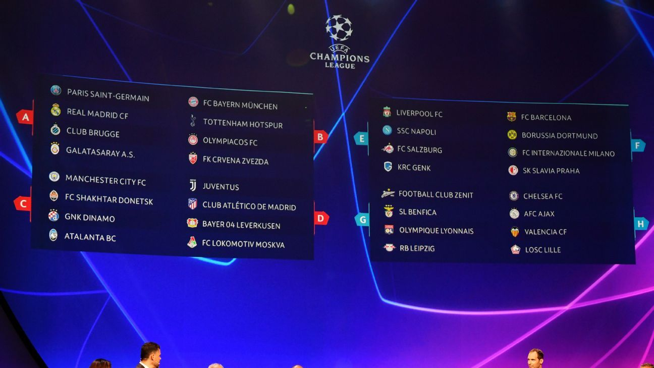 Uefa Champions League Full Group Stage Fixture Schedule 2019 20