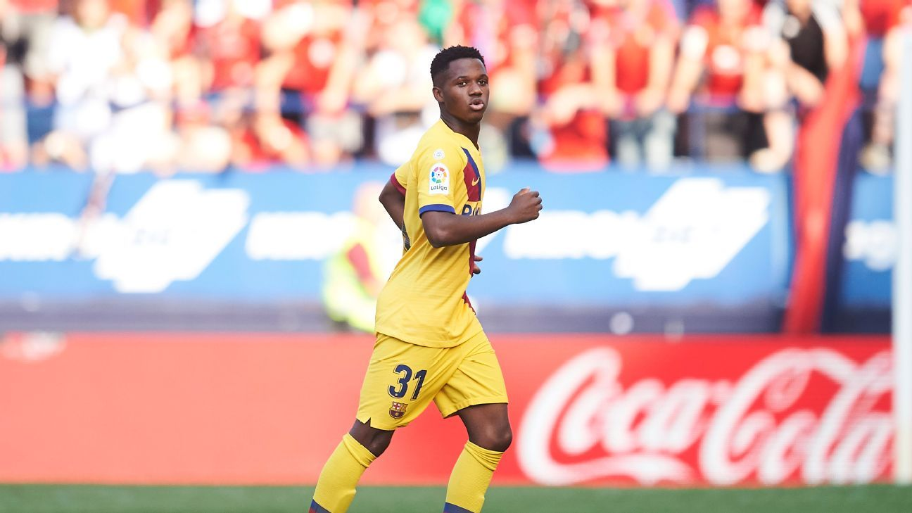 Ansu becomes youngest Barca La Liga scorer