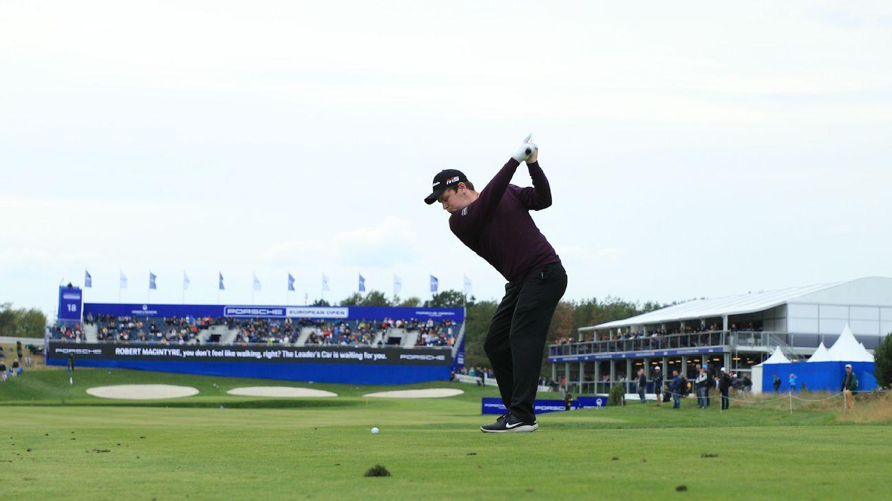Robert MacIntyre takes halfway lead at European Open