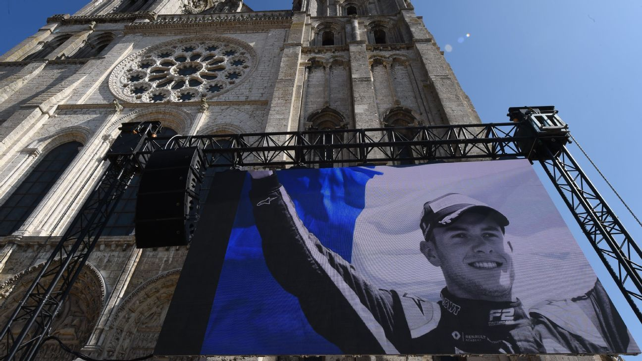 F1 drivers among mourners at Anthoine Hubert's funeral