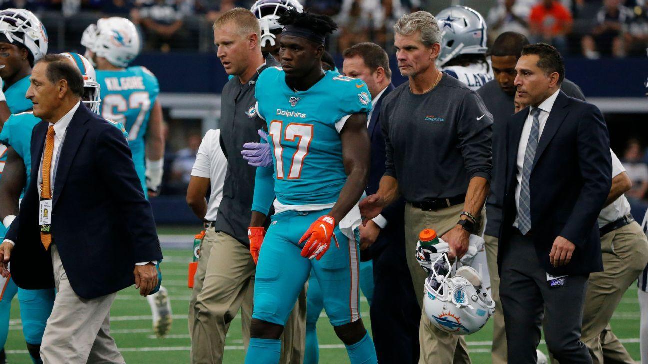 Fins' Hurns suffers concussion in return to Dallas